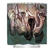 Worn Ballet Slippers Shower Curtain