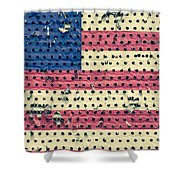 Worn Out American Flag Shower Curtain