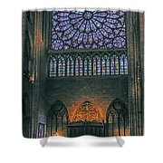 Worship In Notre Dame Shower Curtain