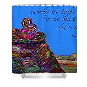 Worship The Father Shower Curtain