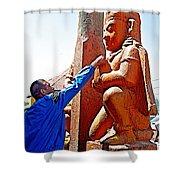 Worshipper At Festival Of Ram Nawami In Kathmandu-nepal    Shower Curtain