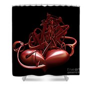 Wounded Heart Shower Curtain