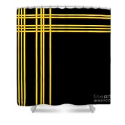Woven 3d Look Golden Bars Abstract Shower Curtain