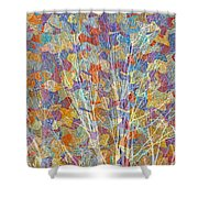 Woven Branches Long Shower Curtain