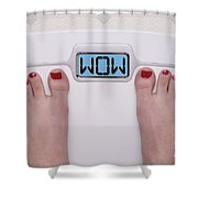 Wow Scale Shower Curtain