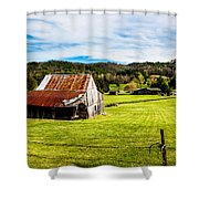 Wow - The Grass Is Greener On The Other Side Shower Curtain