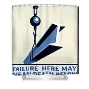 Wpa Vintage Safety First Shower Curtain