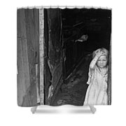 Wpa Young Girl, 1938 Shower Curtain