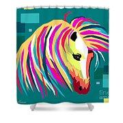 Wpap Horse Shower Curtain