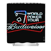 Wpt And Budweiser Shower Curtain