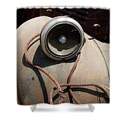 Wrapped Head Lamp Shower Curtain