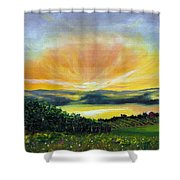 Wrapped In Light Shower Curtain