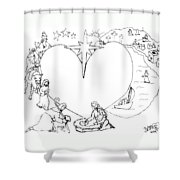 Wrapped In The Arms Of His Love Shower Curtain