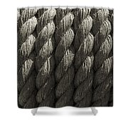 Wrapped Up Tight Sepia Shower Curtain