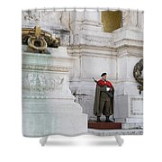 Wreath And Guard At The Tomb Of The Unknown Soldier Shower Curtain