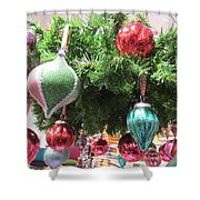 Baubles Shower Curtain
