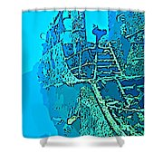 Wreck Diving Make The Discovery Shower Curtain