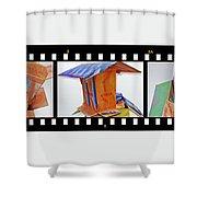 Wreckage Strip Shower Curtain
