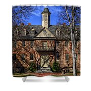 Wren Building Main Entrance Shower Curtain
