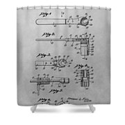 Wrench Patent Drawing Shower Curtain