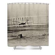 Wright Brothers - First In Flight Shower Curtain