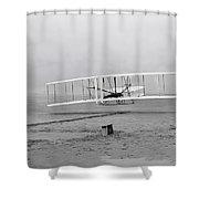 Wright Flyer At Kitty Hawk North Carolina Shower Curtain