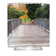 Wrights Park Bridge Shower Curtain