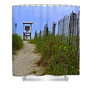 Wrightsville Beach Acess Shower Curtain