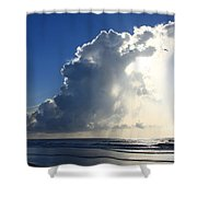 Wrightsville Beach Skyscape Shower Curtain