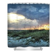 Wrightsville Beach South End Sunset Shower Curtain