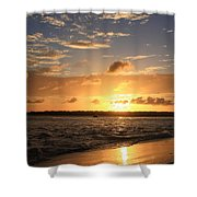 Wrightsville Beach Sunset Shower Curtain