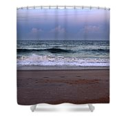 Wrightsville Sunset Waves Shower Curtain