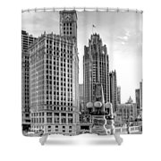 Wrigley And Tribune Shower Curtain