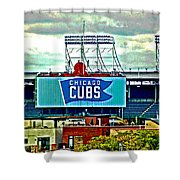 Wrigley Field Chicago Cubs Shower Curtain