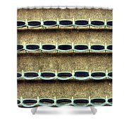 Wrigley Field Grandstand Seats From Upper Deck Shower Curtain