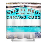 Wrigley Field Sign - X-ray Shower Curtain