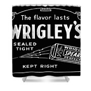 Wrigleys Spearmint Gum Shower Curtain