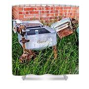 Wringer Washer And Laundry Tub Shower Curtain