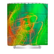 Write Light Rainbow Shower Curtain