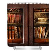Writer - Books - The Book Cabinet  Shower Curtain