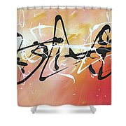 Writing On The Wall By Madart Shower Curtain