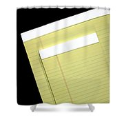 Writing Tablet Shower Curtain