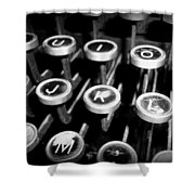 Writing The Great Novel - Black And White Shower Curtain