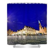 Wroclaw Poland Historical Market Square And The Town Hall Shower Curtain
