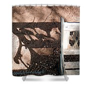 Wrought Iron Bench 1 Shower Curtain