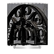 Wrought Iron Shower Curtain