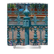 Wrought Iron Fence Shower Curtain