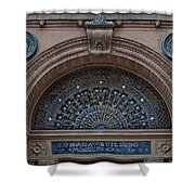 Wrought Iron Grille - The Omaha Building Shower Curtain