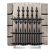 Wrought Iron Window Grille Shower Curtain