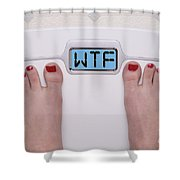 Wtf Scale Shower Curtain